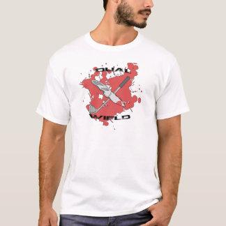 T-shirt Double utilisez le combattant de raton laveur (les