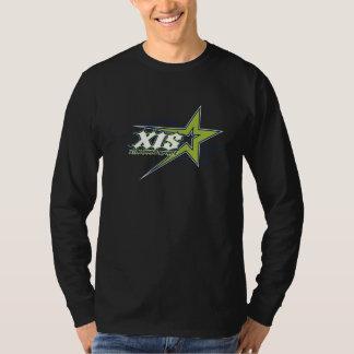 T-shirt Douille 2014 de logo de XIS longue T