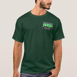 T-shirt Douille de CERT de tailles de Houston longue