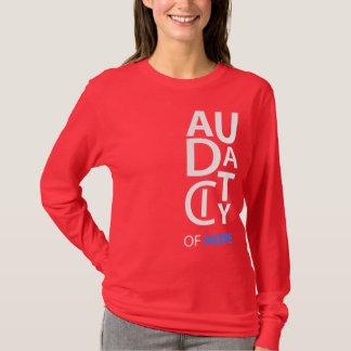 """T-shirt Douille de dames de concepteur de """"audace"""" longue"""