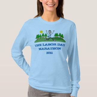 T-shirt Douille de dames de marathon de Fête du travail la