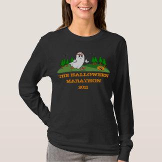 T-shirt Douille de dames de marathon de Halloween la