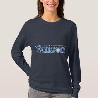 T-shirt Douille de dames d'Edison longue (foncée)