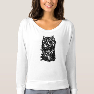 T-shirt Douille de hibou de grange longue