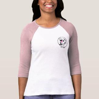 T-shirt Douille des femmes pelucheuses de séjour la mi