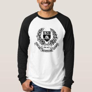T-shirt Douille raglane d'université d'USB longue