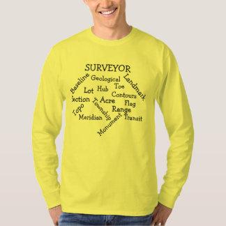 T-shirt Douille T des hommes d'arpenteur la longue