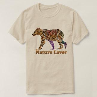 T-shirt d'ours gris d'amant de nature
