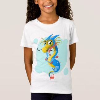 T-Shirt Dragon bleu de mer