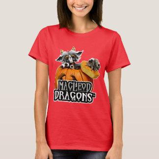T-shirt Dragon Hanes T de citrouille de DM, rouge-foncé