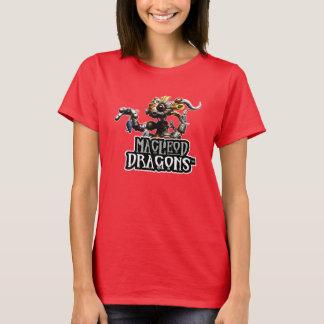 T-shirt Dragon Hanes T de DM Steampunk, rouge-foncé