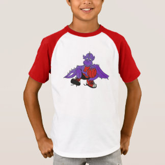 T-shirt Dragon jouant au basket-ball