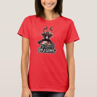 T-shirt Dragon noir Hanes T de DM, rouge-foncé
