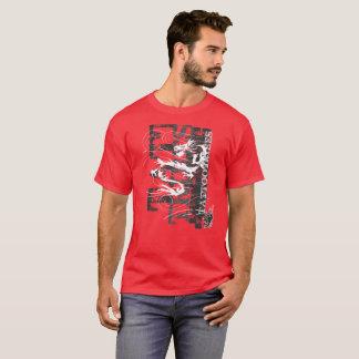 T-shirt Dragon tribal
