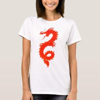 T-shirt Dragons oranges pour Christine
