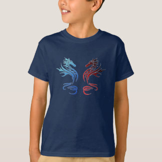 T-shirt Dragons tribaux
