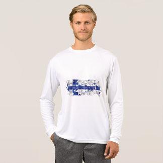 T-shirt Drapeau abstrait de la Finlande, couleurs