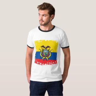 T-shirt Drapeau abstrait de l'Equateur, République de