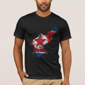 T-shirt Drapeau affligé de la Corée du Nord