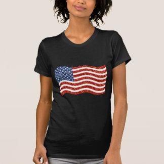 T-shirt drapeau américain de paillette
