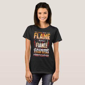 T-shirt Drapeau américain de sapeur-pompier de fiancé