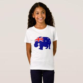 T-Shirt Drapeau australien - hippopotame