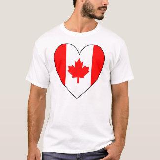 T-shirt Drapeau canadien en forme de coeur