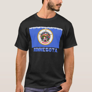 T-shirt Drapeau congelé du Minnesota