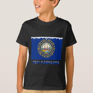 T-shirt Drapeau congelé du New Hampshire