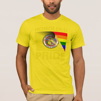 T-shirt Drapeau d'arc-en-ciel de gay pride de Honolulu
