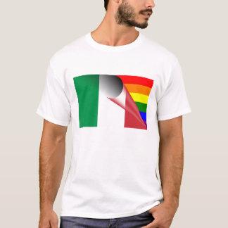 T-shirt Drapeau d'arc-en-ciel de gay pride de l'Italie