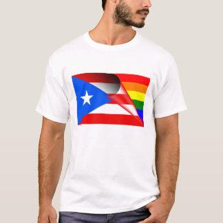T-shirt Drapeau d'arc-en-ciel de gay pride de Porto Rico