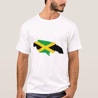 T-shirt Drapeau de carte de la Jamaïque