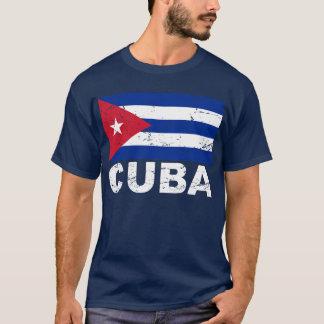 T-shirt Drapeau de cru du Cuba