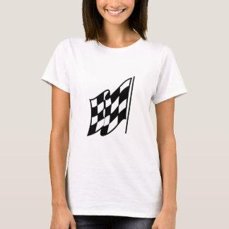 T-shirt Drapeau de emballage Checkered
