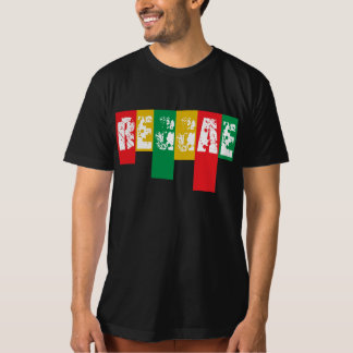 T-shirt drapeau de graffiti de reggae de rasta