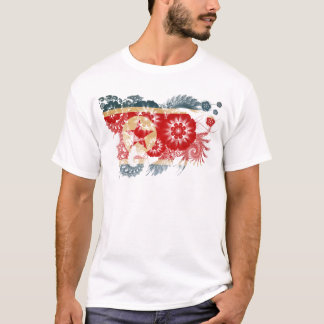 T-shirt Drapeau de la Corée du Nord