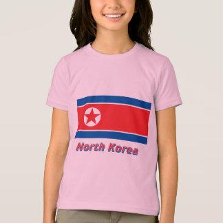T-shirt Drapeau de la Corée du Nord avec le nom