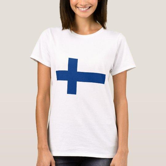 T-shirt Drapeau de la Finlande (lippu de Suomen, flagga de