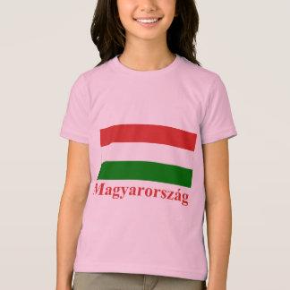 T-shirt Drapeau de la Hongrie avec le nom dans le Hongrois