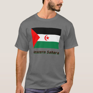 T-shirt Drapeau de la Sahara occidental avec le nom