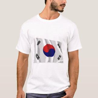 T-shirt Drapeau de ondulation de la Corée du Sud