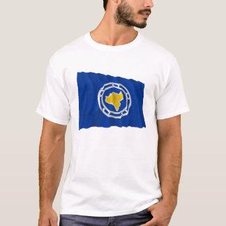T-shirt Drapeau de ondulation de Ngeremlengui