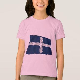 T-shirt Drapeau de ondulation de palissade d'Eureka