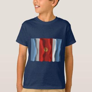 T-shirt Drapeau de ondulation de Santiago del Estero