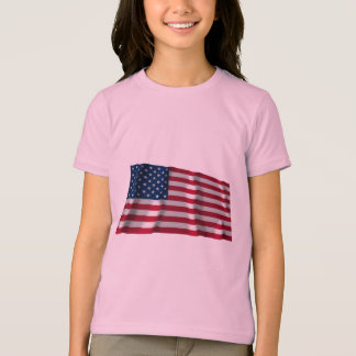 T-shirt Drapeau de ondulation des Etats-Unis