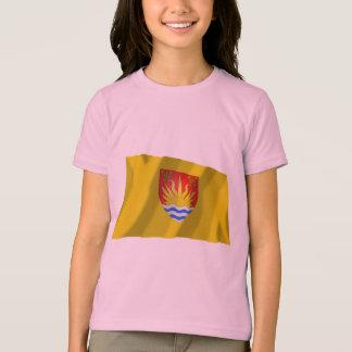T-shirt Drapeau de ondulation du Suffolk