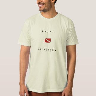 T-shirt Drapeau de piqué de scaphandre des Palaos