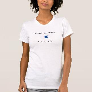T-shirt Drapeau de piqué des Palaos de la Manche d'Ulong