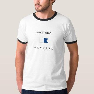 T-shirt Drapeau de piqué du Vanuatu de villa de port alpha